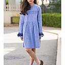 povoljno Kompletići za djevojčice-Djeca Djevojčice slatko Jednobojni Kratkih rukava Haljina Plava 140
