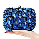 cheap Clutches & Evening Bags-Women's Bags Polyester / Alloy Evening Bag Crystals / Solid Gold / Purple / Rainbow