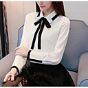 cheap Wallets-Women's Business / Street chic Shirt - Solid Colored Black & White, Bow / Pleated / Lace up