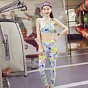 ieftine Colier la Modă-Pentru femei Spate în cruce Costum de yoga - Galben, Violet Sport Floral / Botanic Sutien Sport / Dresuri Ciclism Yoga, Dans, Sală de Fitness Fără manșon Îmbrăcăminte de Sport  Respirabil, Compresie