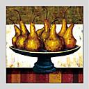 olcso Csendélet festmények-Hang festett olajfestmény Kézzel festett - Csendélet Modern Tartalmazza belső keret / Nyújtott vászon