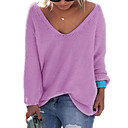 cheap Bakeware-women's going out long sleeve pullover - solid colored v neck