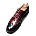 Χαμηλού Κόστους Αντρικά Oxford-Ανδρικά Παπούτσια άνεσης PU Καλοκαίρι Oxfords Λευκό / Μαύρο / Κόκκινο