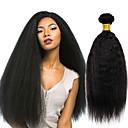 billige En pakke med hår-3 pakker Peruviansk hår Yaki Straight Ekte hår Menneskehår Vevet / Bundle Hair / Hairextensions med menneskehår 8-28 tommers Naturlig Farge Hårvever med menneskehår Ekstensjon / Hot Salg
