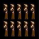 baratos Camisas Para Ciclismo-BRELONG® 10pçs Bucha de garrafa de vinho LED Night Light Branco Quente / Branco / Vermelho Botão Bateria Alimentada Criativo / Casamento / Decoração <5 V