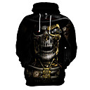 cheap Jewelry Sets-Men's Exaggerated Hoodie - 3D / Skull, Print