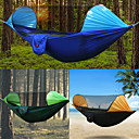 cheap Camping Furniture-Camping Hammock with Mosquito Net Outdoor Rain-Proof, Breathability Nylon for Hiking / Camping - 2 person Orange / Dark Blue / Dark Green
