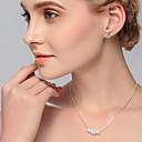 ieftine Cercei-Pentru femei Cristal Zirconiu Cubic Stl Set bijuterii - Creative Stilat, European Include Cercei Rotunzi Lănțișor Argintiu Pentru Nuntă Zilnic