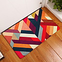 cheap Pillow Covers-Doormats Geometric Pattern Flannelette, Rectangular Superior Quality Rug