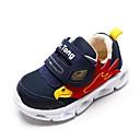 זול נעלי ילדים-בנים נעליים רשת / PU קיץ & אביב / אביב קיץ נוחות נעלי אתלטיקה ריצה / הליכה מפרק מפוצל / סקוטש / LED ל ילדים כחול כהה / קולור בלוק