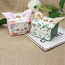 baratos Suporte para Lembrancinhas-Cúbico Papel de Cartão Suportes para Lembrancinhas com Fitas Caixas de Ofertas - 12pcs