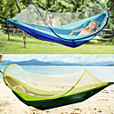 cheap Camping Furniture-Camping Hammock with Mosquito Net Outdoor Lightweight High Density Ripstop for Hiking / Camping - 2 person Dark Blue / Dark Green