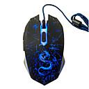 baratos Teclados-Factory OEM USB com fio Mouse para Jogos 6 pcs chaves Luz LED 4 níveis de DPI ajustáveis 6 teclas programáveis 3200 dpi