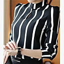 cheap Mascaras-Women's Blouse - Solid Colored / Striped Stand