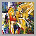 お買い得  抽象画-ハング塗装油絵 手描きの - 抽象画 近代の 内枠を含めます / ストレッチキャンバス