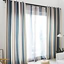 preiswerte Fenstervorhänge-Fertig Verdunkelung Vorhänge drapiert zwei Panele 2*(W140cm×L259cm) Gelb / Schlafzimmer