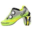 abordables Zapatos de Ciclismo-SIDEBIKE Adulto Calzado para Bicicleta de Carretera Fibra de Carbono Amortización Ciclismo Verde Hombre