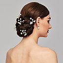 cheap Party Headpieces-Pearl Headwear / Hair Pin with Floral 1pc Wedding / Special Occasion / Casual Headpiece