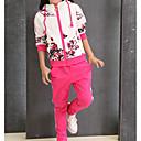 povoljno Kompletići za djevojčice-Djeca Djevojčice Osnovni Print Dugih rukava Pamuk / Poliester / Spandex Komplet odjeće Plava 140