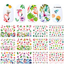cheap Water Transfer Nail Stickers-12 pcs Water Transfer Sticker Flamingo / Flower Series nail art Manicure Pedicure New Design / Best Quality Tropical / Renaissance Party / Evening / Masquerade / Family Gathering