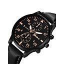 cheap Men's Watches-Men's Wrist Watch Quartz Chronograph Cute Casual Watch Leather Band Analog Bangle Fashion Black / Blue / Brown - Silvery / White Rose Gold / White Black / Rose Gold One Year Battery Life / Large Dial
