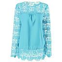 baratos Fantasias do Mundo Antigo-blusa feminina - decote redondo em cor sólida