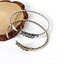 preiswerte Modische Halsketten-Damen Stilvoll Manschetten-Armbänder - Feder, Arrow Einfach, Retro, Europäisch Armbänder Gold / Schwarz / Silber Für Alltag