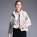 cheap Rings-Women's Military Jacket - Solid Colored, Tassel