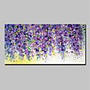 tanie Obrazy: motyw roślinny/botaniczny-Hang-Malowane obraz olejny Ręcznie malowane - Abstrakcja / Kwiatowy / Roślinny Nowoczesny Naciągnięte płótka / Rozciągnięte płótno