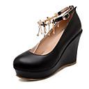 ราคาถูก รองเท้าส้นสูงผู้หญิง-สำหรับผู้หญิง รองเท้าสบาย ๆ PU ตก รองเท้าแต่งงาน รองเท้าส้นตึก ขาว / สีดำ / สีชมพู / งานแต่งงาน