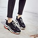 billige Sneakers til damer-Dame joggesko PU (polyuretan) Camping & Fjellvandring / Løp / Jogging Anti-Ryste / Demping, Pusteevne, Anti-Skride Tyll / Lær Hvit / Svart / Gul