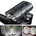 رخيصةأون مصابيح الدراجة العاكسة-LED اضواء الدراجة ضوء الدراجة الأمامي مصابيح الدراجة ركوب الدراجة ضد الماء محمول سريع الإصدار 2000 lm بطارية قابلة لإعادة الشحن Camping / Hiking / Caving أخضر