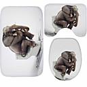 ieftine Preșuri & Covorașe-3 Piese Modern Preș de Baie 100g / m2 Poliester Tricot Stretch Animal neregulat Model nou