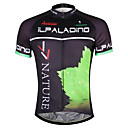 cheap Cycling Jerseys-ILPALADINO Men's Short Sleeve Cycling Jersey - Black / Green Leaf Bike Jersey Top, Quick Dry YKK Zipper Reduces Chafing, Spring Summer, Polyester Coolmax® Eco-friendly Polyester / Stretchy
