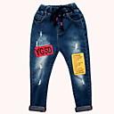 ieftine Pantaloni Băieți-Copii Băieți De Bază Zilnic Mată Găurite Poliester Blugi Albastru piscină 110