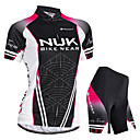 cheap Cycling Jersey & Shorts / Pants Sets-Nuckily Women's Short Sleeve Cycling Jersey with Shorts - Black Bike Shorts / Jersey / Padded Shorts / Chamois, Waterproof, Breathable, Ultraviolet Resistant, Waterproof Zipper, Reflective Strips