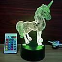 baratos Brinquedos Magnéticos-1pç Luz noturna 3D Mudança USB Sensor de toque / Adorável / Legal 5 V