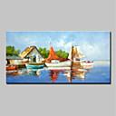 halpa Abstraktit maalaukset-Hang-Painted öljymaalaus Maalattu - Maisema Perinteinen Sisällytä Inner Frame / Venytetty kangas
