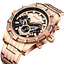 cheap Fashion Watches-Men's Wrist Watch Japanese Japanese Quartz Stainless Steel Silver / Rose Gold 30 m Calendar / date / day Casual Watch Cool Analog Luxury Fashion - Silver Rose Gold One Year Battery Life