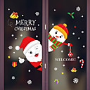 cheap Window Film & Stickers-Window Film & Stickers Decoration Animal / Christmas Character PVC(PolyVinyl Chloride) Window Sticker / Adorable / Funny