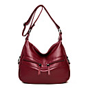 cheap Shoulder Bags-Women's Bags Cowhide Shoulder Bag Zipper Crocodile Dark Blue / Purple / Wine