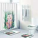 tanie Dopinki w naturalnych kolorach-3 szt. Kreskówki Maty łazienkowe 100g / m2 Poliester Stretch Knit Zwierzę Nieregularny Godny podziwu
