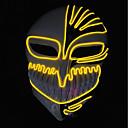 cheap Night Lights-BRELONG Halloween Horror Death Black Knight Cold Light Glowing Mask 1 pc
