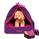 baratos Camas & Cobertores para Cães-Cachorros / Gatos / Animais Pequenos Peludos Camas Animais de Estimação Delineadores Sólido Quente / Tenda / Lavável Roxo Para animais de estimação