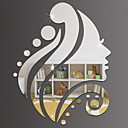 cheap Wall Stickers-Decorative Wall Stickers - Mirror Wall Stickers Shapes Indoor