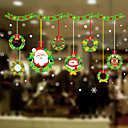 cheap Window Film & Stickers-Window Film & Stickers Decoration Floral / Christmas Flower / Floral / Character PVC(PolyVinyl Chloride) Window Sticker / Adorable / Funny