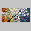 abordables Peintures Abstraites-Peinture à l'huile Hang-peint Peint à la main - Abstrait A fleurs / Botanique Moderne Inclure cadre intérieur / Toile tendue