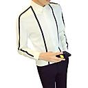 رخيصةأون محافظ-رجالي قميص نحيل ياقة كلاسيكية مخطط / ألوان متناوبة / كم طويل