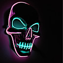cheap Masks-BRELONG Halloween Night Party Horror Scary Glowing Skull Mask 1 pc