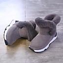 abordables Zapatos de Niña-Chica Zapatos PU Invierno / Otoño invierno Botas de Moda Botas Paseo Pompón para Niños / Adolescente Negro / Gris / Mitad de Gemelo